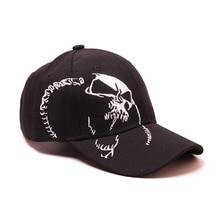 Hohe Qualität Unisex 100% Baumwolle Outdoor Baseball Kappe Schädel Stickerei Snapback Mode Sport Hüte Für Männer & Frauen Kappe