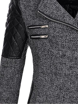 Women Winter Hooded Coat Autumn Zipper Slim Outerwear Spring Fashion Patchwork Black Female Warm Windproof Overcoats 3