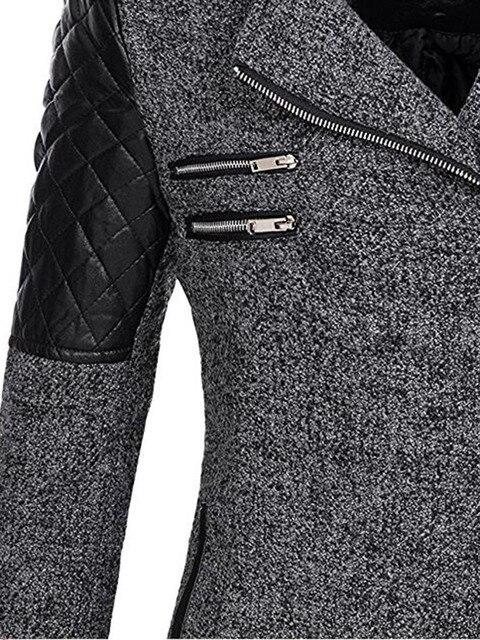 Women Winter Hooded Coat Autumn Zipper Slim Outerwear Spring Fashion Patchwork Black Female Warm Windproof Overcoats 3