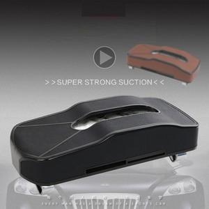 Image 3 - Creative Sports Car Shape Leather Tissue Bbox Sun Visor Holder Seat Back Hanging Pater Towel Case Storage Bag Business Card Clip