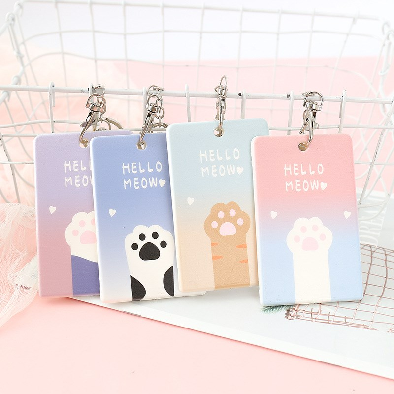 1 Piece Cute Cartoon Cat Claw Card Holder Creative Bank Credit Card Holder ID Card Holders Card Cover Office Supplies