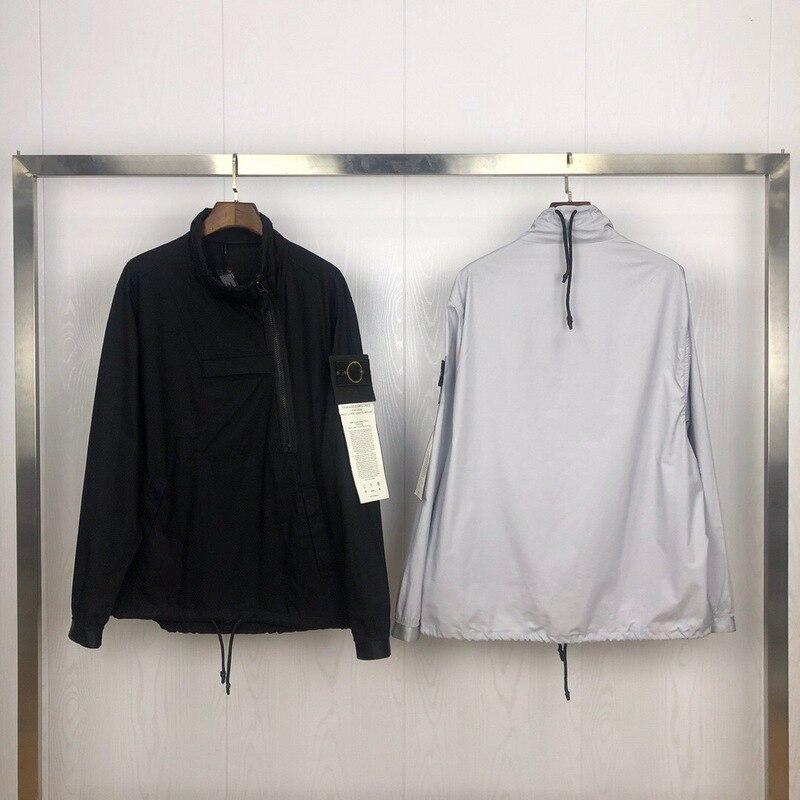2019 Best Version 1:1 Compass Logo Printed SI Women Men Windbreaker Jacket Hiphop Streetwear Men Casual Jacket Coat