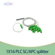 15 20 30 قطعة/الوحدة 1X16 PLC SC/APC الفاصل SM 0.9 مللي متر PVC G657A 1m FTTH الألياف البصرية الخائن أسعار الجملة