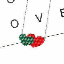Двойное ожерелье fairywoo в форме сердца стимпанк delica цепочка