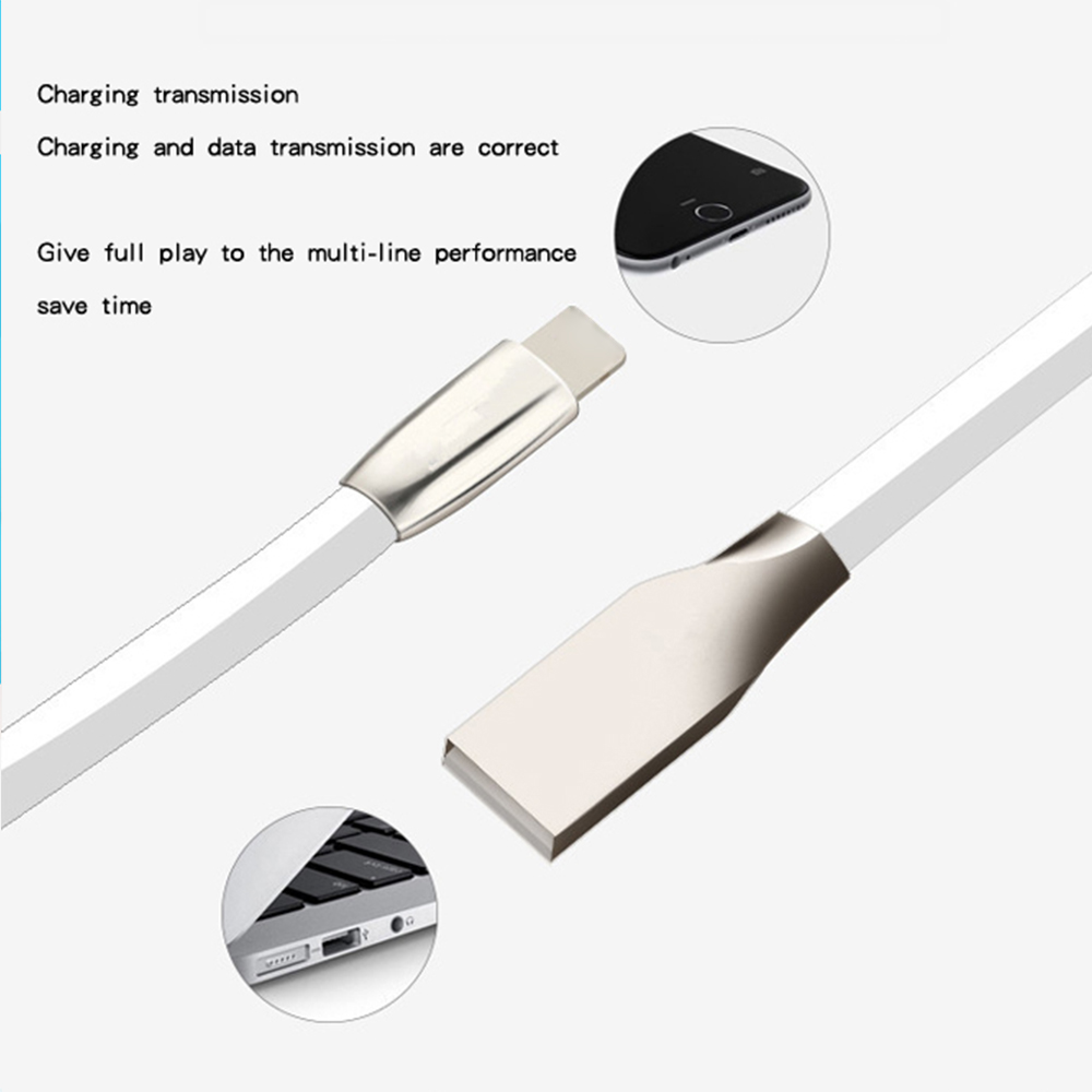 USB Cable For iPhone X XR XS MAX For iPad Zinc Alloy Nylon Braided USB Lighting Fast Charger Phone Cable Auto Disconnect in Mobile Phone Chargers from Cellphones Telecommunications