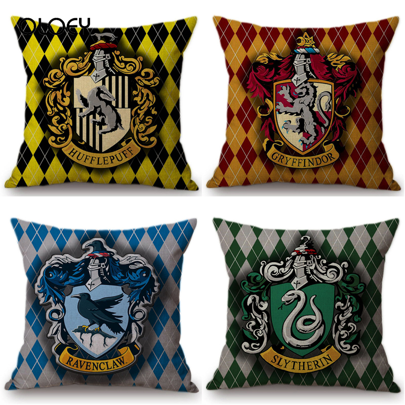 Cartoon Harry Gryffindor Cotton Polyester Square Pillowcase Decorative Cushion Cover Home Hotel Car Seat Decorative Pillowcase .