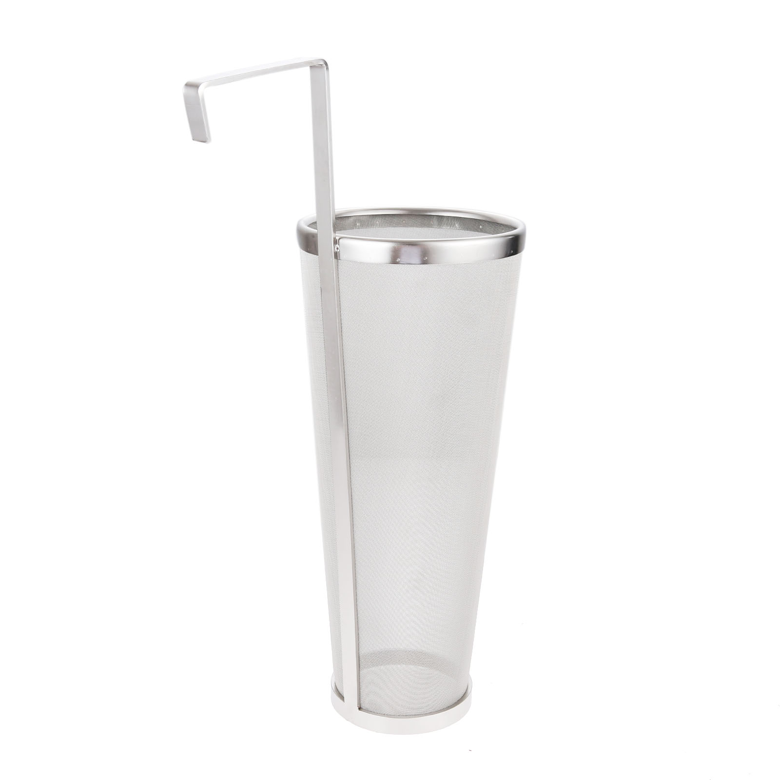 Stainless Steel Homebrew Hop Spider Beer Brew Hop Filter 300 Micron Mesh Strainer With Hook For Hanging 35x10cm