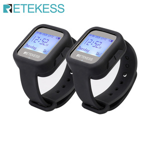 Image 1 - Retekess Restaurant Calling System TD106 2pcs Watch Receivers  Wireless Pager Cafe Office Restaurant Equipment Service F9453
