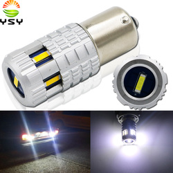 YSY 1pc BA15S 1156 P21W BAU15S 1156 PY21W Canbus Car Bulb 6 CSP 1860 LED Reverse DRL Turn Signal White Yellow indicator Light