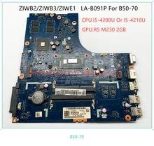 5B20G06294 5B20G05268 5B20G46221 ZIBW2/3 LA-B091P материнская плата для ноутбука Lenovo B50-70 материнская плата портативного компьютера с i5 процессор GPU 2 ГБ 100% тест