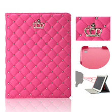 Case For Ipad 2017 2018 Luxury Rhinestone Flip Breathable Cover Full Protect Stand PU Leather Case For Apple Ipad Air 2 Air 1 цены онлайн
