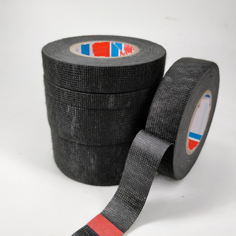 Car Flannel Tape Harness Tape Flame Retardant Tape High Temperature Super Sticky Electrical Insulation Tape Black Tape