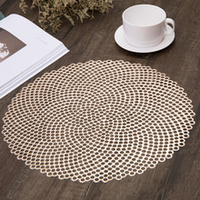 Round Table Placemats Non-Slip Coaster Table Mats Dining Table Placemat Non-slip Restaurant Supplies Dining Table Accessorie hq environmental anti slip abs material 32in 80cm od swivel turn table larizonay lazy susan for round dining table