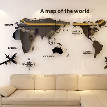 Waterproof Glass Fiber Wall Stickers Wal Decoration Living Room Stereoscopic Sturdy Can Be Removed Acrylic