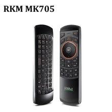 Rkm MK705 2.4Ghz 3 In 1 Draadloze Air Mouse Qwerty toetsenbord Ir Afstandsbediening Met Oplaadbare Batterij Voor Smart tv Box