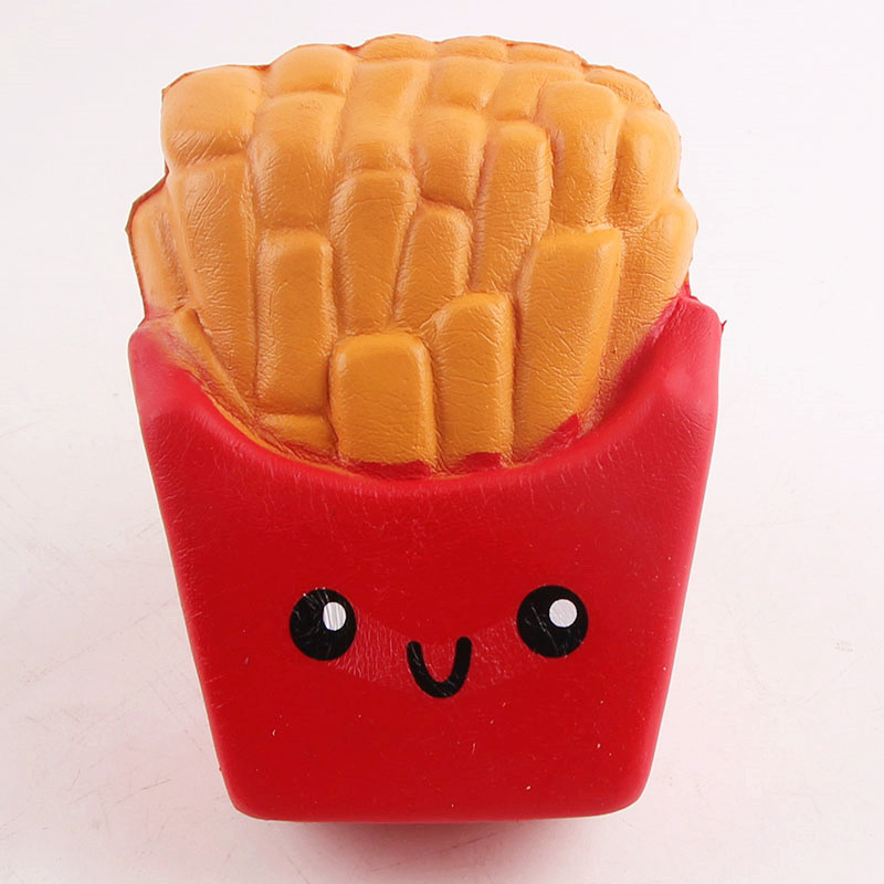 1 Pc French Fries Smiley Face Squishy Toys New Slow Rebound Toysimulation Food Soft Decompression Vent Toys