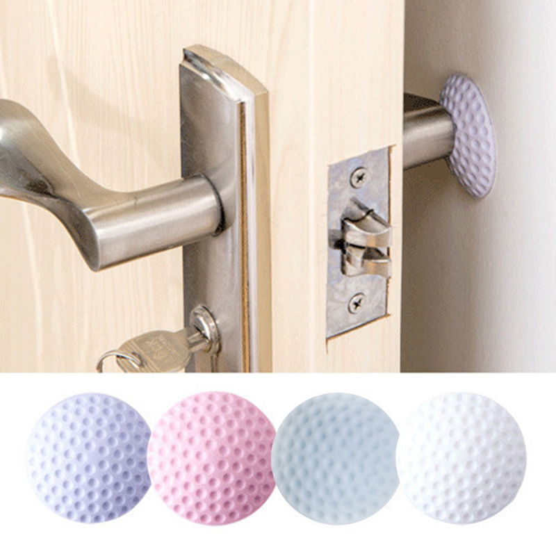Doorknob Crash Pad Wall Mute Door Stick Rubber Fender Handle Door Lock Protective Pad Protection Collision Protection Bumper