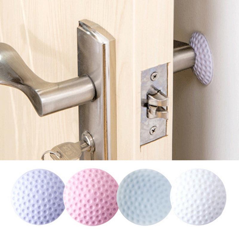 Doorknob Crash Pad Wall Mute Door Stick Rubber Fender Handle Door Lock Protective Pad Protection Collision Protection Bumper