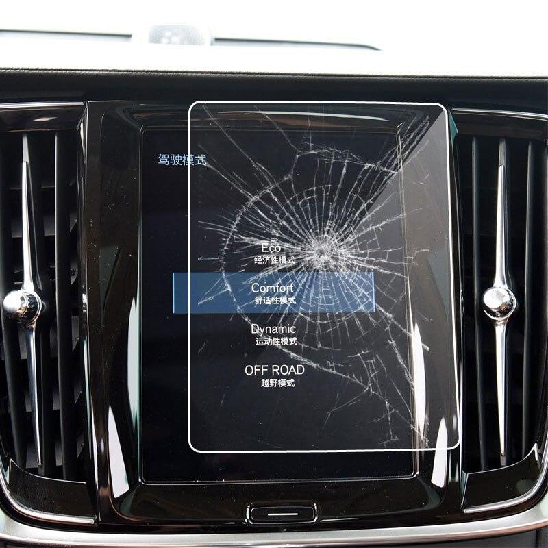 8.7 Polegada hd clear touch screen protector carro gps navegação filme de vidro temperado para volvo xc40 xc 40 2018 2019 acessórios do carro