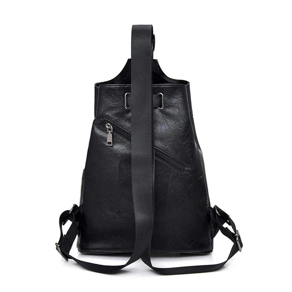 Vanderwah moda bonito mochila feminina de couro feminino mochila designer sacos de ombro para as mulheres 2018 mochila de viagem saco no peito