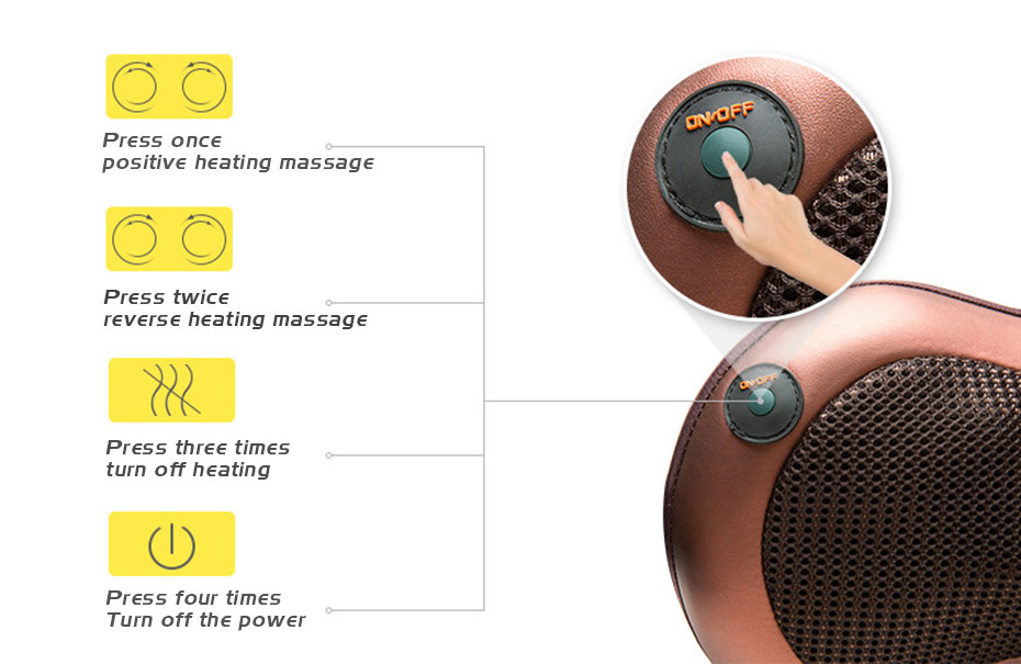 Cellulite Electrical Shiatsu Back Neck Shoulder Massager And 4D Kneading Body Spa With Infrared Heating 6