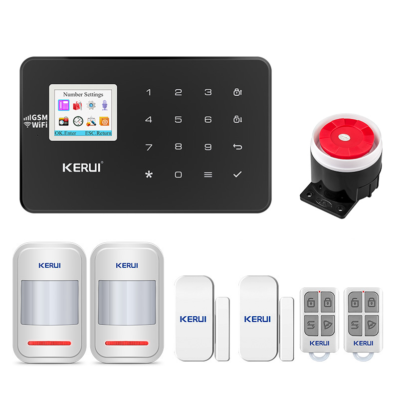KERUI W18 GSM WIFI Connection Family Safety Alarm System Tamper Function Mobile APP Control Voice Calls Smart Security Alarm Kit image