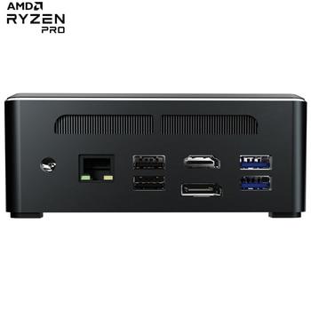 Мини ПК Amd ryzen 3 ryzen 5 Dual ddr4 Настольный игровой компьютер dp hdmi тонкий клиент nvme ssd HTPC windows 10 linux