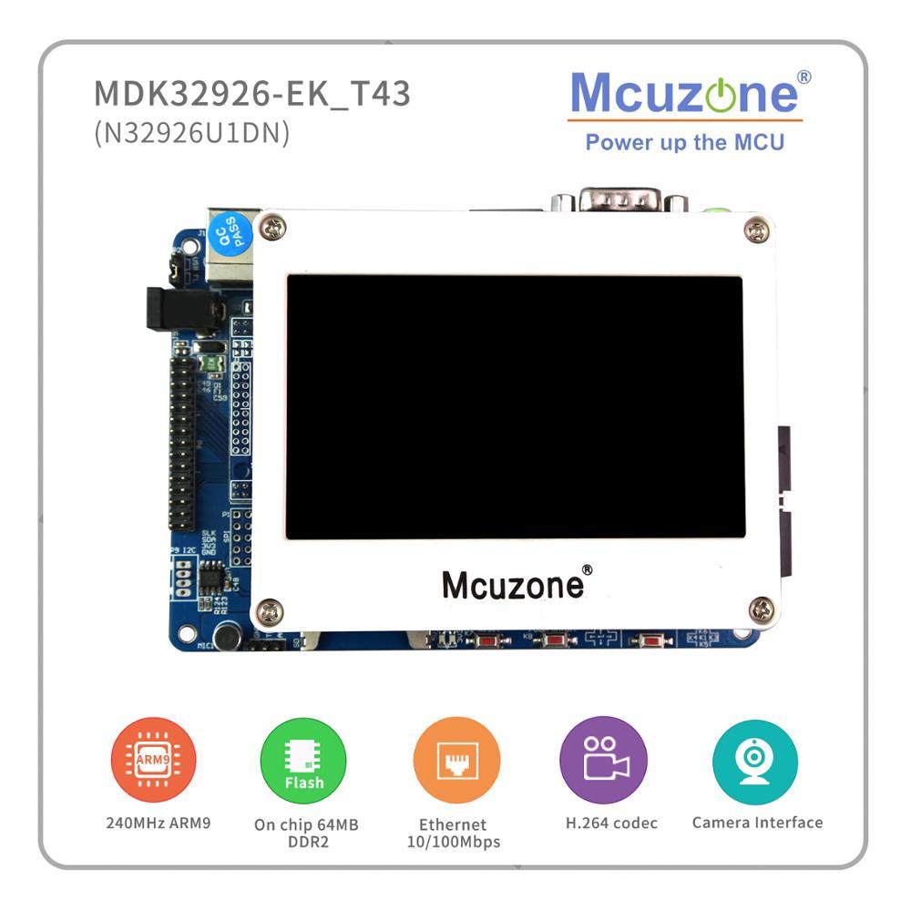 MDK32926-EK_T43, NUVOTON N32926U1DN Soc, 64MB DDR2, USB, LCDC, AUDIO, H.264 And JPEG Codec, 4.3