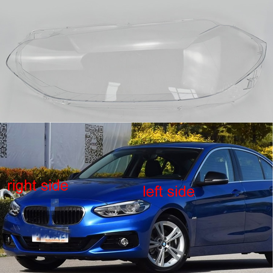 Headlamp Cover Glass Transparent Lampshade Lamp Shade Headlight Shell For 2016 2017 2018 BMW 1 Series F20 116i 118i 120i image