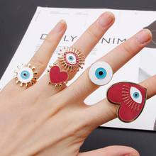Gold Plated Heart Enamel Evil Eye (China)