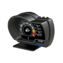 """רכב Rotatable HUD OBD2 GPS חכם כפולה מערכת ראש עד מהירות ניטור דיגיטלי מד סל""""ד שמן consuption תצוגת מבחן OBD סורק"""