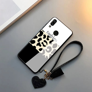 Image 4 - Fashion leopard pattern tempered glass luxury phone case for iphone 11 lot pro max x xr xs max 8 7 6s plus cover soft edge women