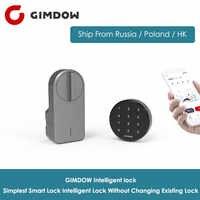 Bloqueo de puerta inteligente GIMDOW bloqueo inteligente Bluetooth Digital sin cambiar el Control Bluetooth de la aplicación inalámbrica de bloqueo existente