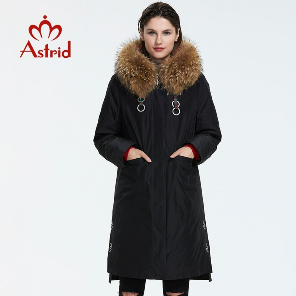 Astrid 2019 Winter new arrival down jacket women with a fur collar outerwear high quality long fashion women winter coat FR 7049 Parkas  - AliExpress