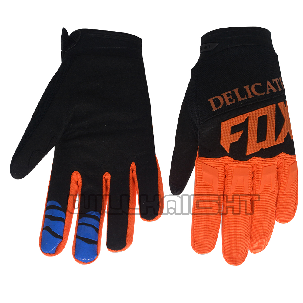 2019 zarte Fuchs Dirtpaw 360 MX Rennen Orange Handschuhe <font><b>Enduro</b></font> MTB DH Motocross Moutain Bike Racing Handschuhe image
