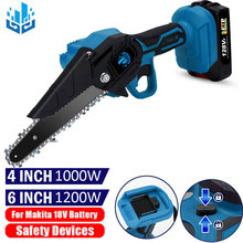 1200W 6 Inch Cordless Electric Saw 1000W 4 Inch Mini Portable Electric Chainsaw For Makita