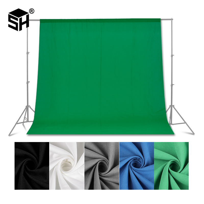 Green screen Photography Backdrops Green/White/Black/Blue/Grey Muslin Polyester cotton Professional Background for Photo Studio|Background| - AliExpress