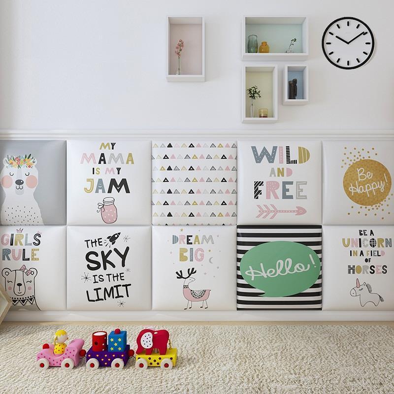 Head Board Chambre A Coucher Enfant Cabezero Children 3D Wall Sticker Cabeceira Tete Lit Cabecero Cama De Pared Bed Headboard