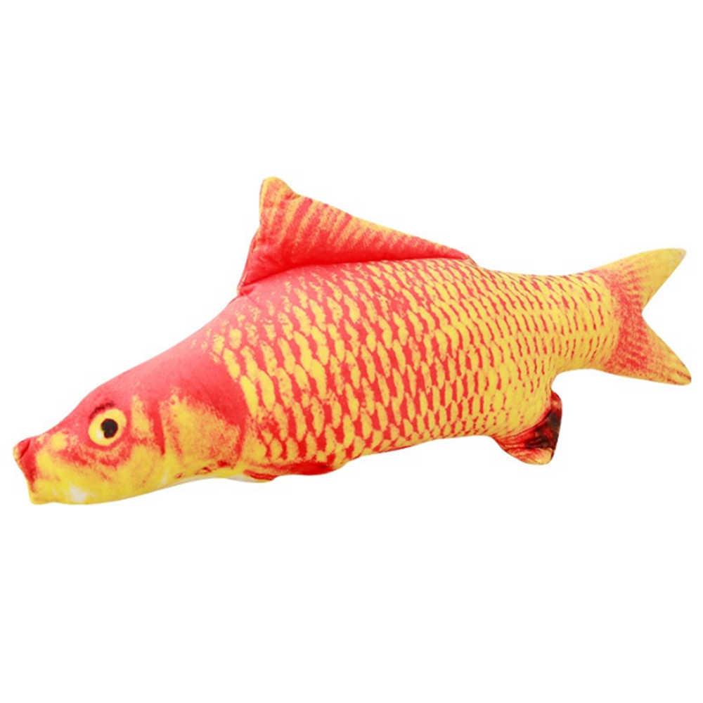 1 sztuka wiele styl ryby pluszowa symulacja 3D ryby zabawka dla kota kocimiętka Tease kot kij kot interaktywne prezenty zabawka dla zwierzaka