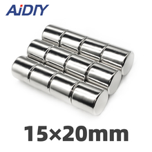AIDIY 1/5/20 pcs 15x20mm permanent magnet small round super strong powerful rare earth magnets neodymium 15*20mm
