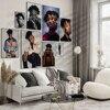 Ameryka Rap Singer 21 Savage czarno-biały portret plakat, Hip-Hop muzyka Savage Vintage artystyczny obraz ścienny, kolekcja dla fanów