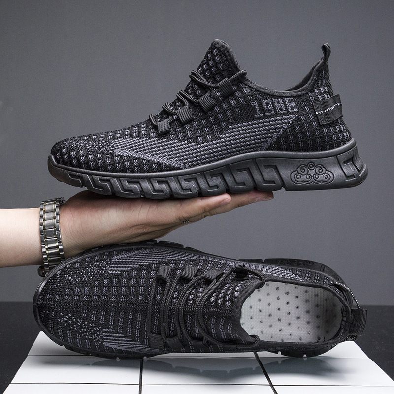 Casual single shoes spring and summer new breathable men's casual shoes breathable...