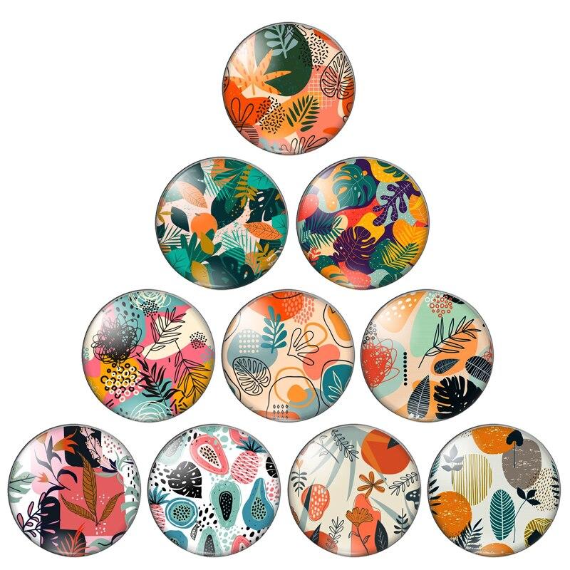 Лес разноцветными листьями картина 10 мм/12 мм/18 мм/20 мм/25 мм кабошоны круглые фото стекло кабошон демо с плоской задней частью, украшения свои...