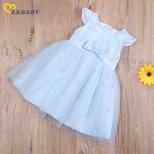 Ma & Baby – robe Tutu d'été pour petites filles, tenue princesse avec nœud papillon et perles, Costumes de fête, rose, bleu, Orange, 6 mois à 5 ans