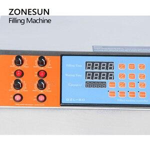 Image 2 - ZONESUN Machine de remplissage électrique à 4 têtes, remplisseuse, commande digitale, pompe, parfums, eau, jus, huiles essentielles, liquides, 3 à 4000ml