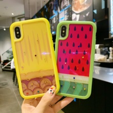 jumalar Watermelon pattern blue plastic mobile phone case For 7 Plus 8 X XR 6 6s XS MAX back cover Fruit