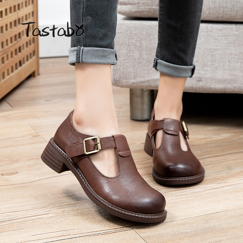 2021 New Spring Tenis Feminino Shoes Woman genuine Leather Solid Color Female Shoes Casual Women Shoes Sneakers S21280