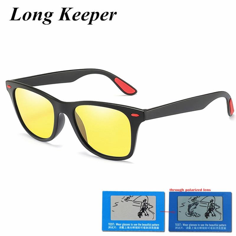 Fashion Mens Square Frame Driving car Polarized Sunglasses Eye Eyewear Lightweight Oversized Eyeglasses