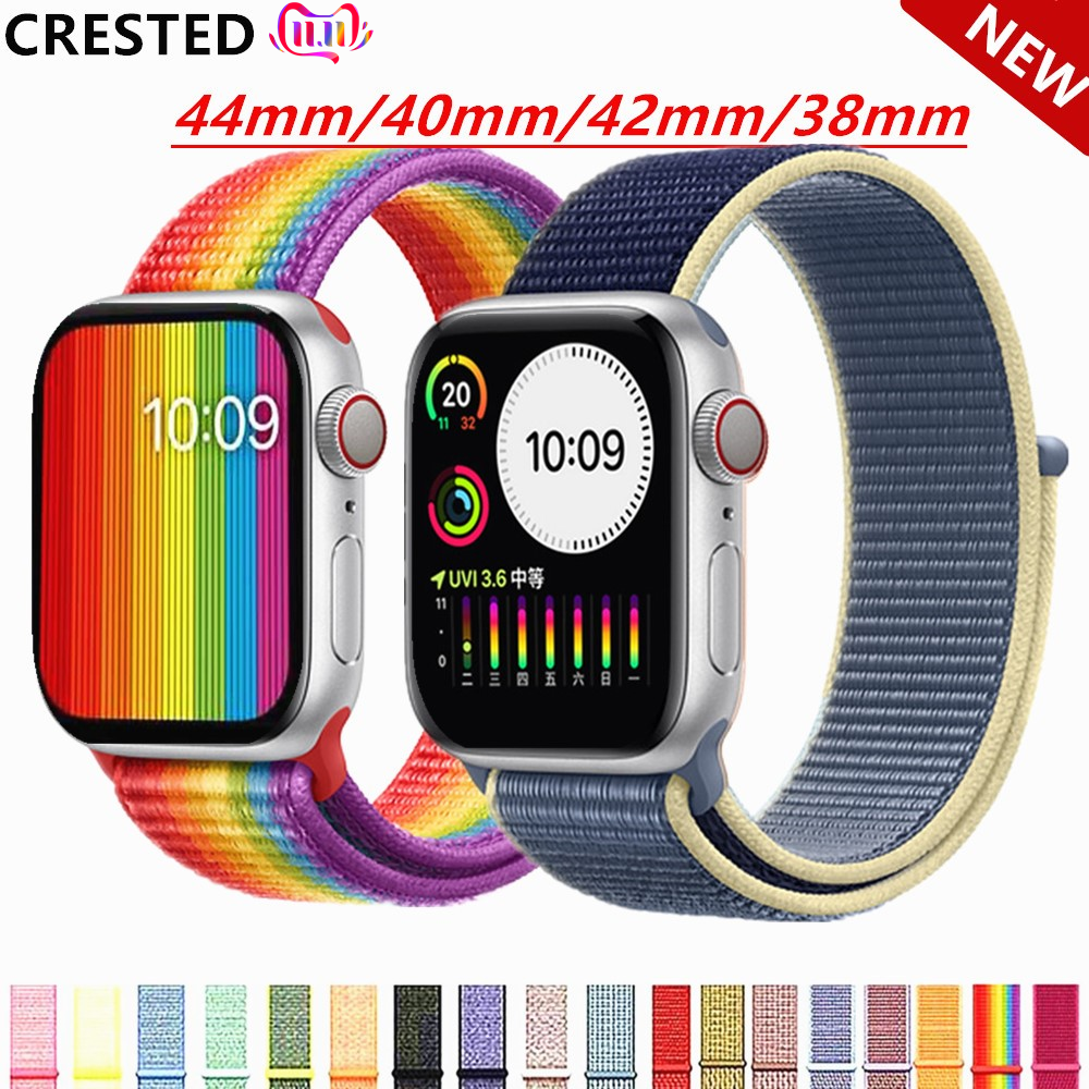 Strap For Apple Watch Band Apple Watch 5 4 3 Band 44mm/40mm Sport Loop Iwatch Band 5 42mm 38mm Correa Pulseira Nylon Watchband