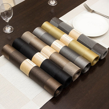 Placemat 30*180CM pvc Western food mat single frame fabric placemat Hotel Family No-clean anti-skid insulation pad